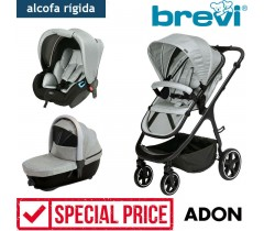 Brevi - Trio com alcofa homologada ADON Silver Grey