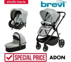 Brevi - Trio com alcofa macia ADON Silver Grey