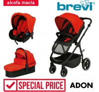Brevi - Trio com alcofa macia ADON Red Sport