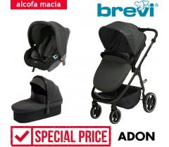 Brevi - Trio com alcofa macia ADON Carbono