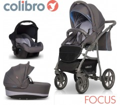 COLIBRO - Carrinho multifuncional FOCUS 3 in 1 Baby Blue