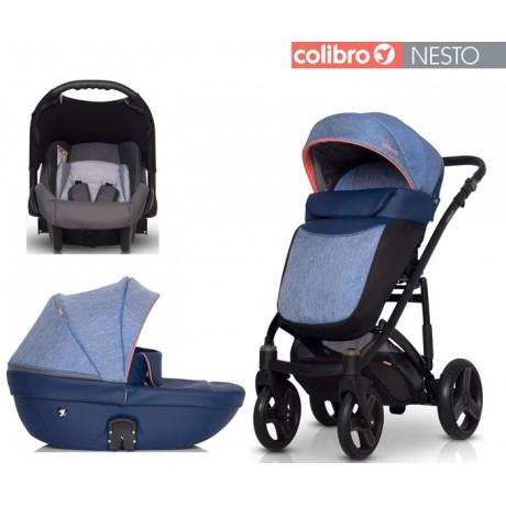 COLIBRO - Carrinho multifuncional NESTO 3 in 1 Jeans
