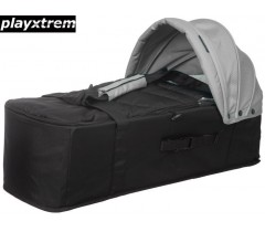 PLAYXTREM - BABY TWIN COT Silver