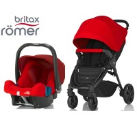 Duo Britax B-Agile 4 Plus + Römer Baby Safe SHR II Flame Red