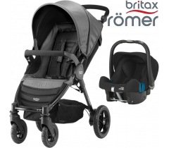 Duo Britax B-Motion 4 + Römer Baby Safe SHR II Denim Black