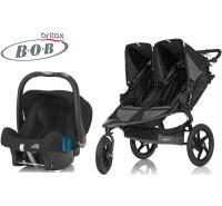 Duo Bob Revolution Pro Duallie + Römer Baby Safe SHR II Black