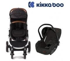 Kikka Boo - Duo, carrinho convertível + Grupo 0+ Dotty Preto