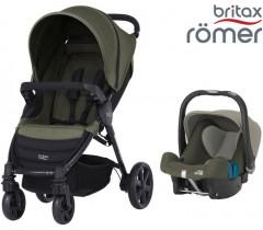 Duo Britax B-Agile 4 + Römer Baby Safe SHR II Olive Green