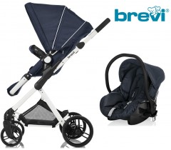 Brevi - Duo carrinho c/ grupo 0+ Midnight Blue Presto City