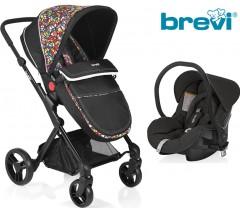 Brevi - Duo carrinho c/ grupo 0+ Multicolor Presto City