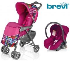 Brevi - Duo Grillo carrinho de passeio c/ grupo 0+