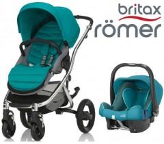 Duo Britax Affinity 2 + Römer Baby Safe SHR II Green Marble