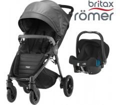 Duo Britax B-Motion 4 Plus + Römer Baby Safe SHR II Black Denim