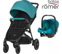 Duo Britax B-Motion 4 Plus + Römer Baby Safe SHR II Lagoon Green