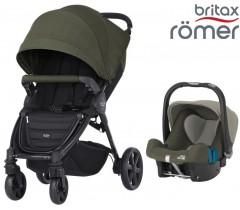 Duo Britax B-Motion 4 Plus + Römer Baby Safe SHR II Olive Green