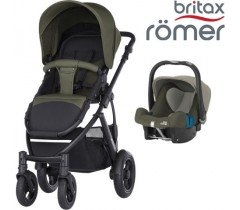 Duo Britax Smile 2 + Römer Baby Safe SHR II Olive Green