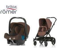 Duo Britax GO + Römer Baby Safe SHR II Wood Brown