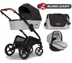 EURO-CART - CAMPO chassis, alcofa, + bolsa + Grupo 0+ ISOFIX READY Anthracite