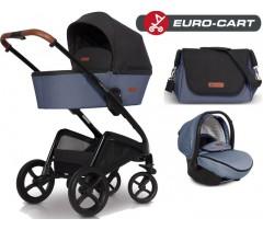 EURO-CART - CAMPO chassis, alcofa, + bolsa + Grupo 0+ ISOFIX READY Denim
