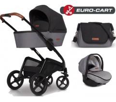 EURO-CART - CAMPO chassis, alcofa, + bolsa + Grupo 0+ ISOFIX READY Grey Fox