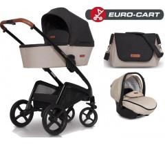 EURO-CART - CAMPO chassis, alcofa, + bolsa + Grupo 0+ ISOFIX READY Latte