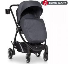 EURO-CART - Carrinho de bebé CROX Coal