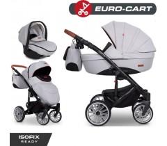 EURO-CART - Carrinho multifuncional DELTA + Grupo 0+ ISOFIX READY Grey Fox