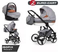 EURO-CART - Carrinho multifuncional DURANGO SPORT + Grupo 0+ ISOFIX READY Camel