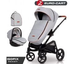 EURO-CART - Carrinho multifuncional EXPRESS + Grupo 0+ ISOFIX READY Grey Fox