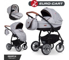 EURO-CART - Carrinho multifuncional PASSO PRO + Grupo 0+ ISOFIX READY Grey Fox