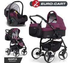 EURO-CART - Carrinho multifuncional PASSO SPORT + Grupo 0+ ISOFIX READY Purple
