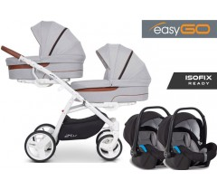 EASYGO - 2 OF US (2 assentos + 2 alcofas) + STARTER 0+ ISOFIX READY Grey Fox