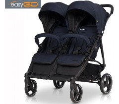 EASYGO - Carrinho de gémeos DOMINO 2020 Cosmic Blue