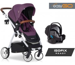 EASYGO - Carrinho multifuncional OPTIMO + STARTER 0+ ISOFIX READY Purple