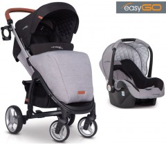 EASYGO - Carrinho multifuncional VIRAGE ECCO + STARTER 0+ ISOFIX READY Grey Fox