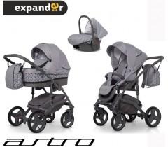 EXPANDER - Carrinho multifuncional ASTRO + CARLO ISOFIX READY Carbon