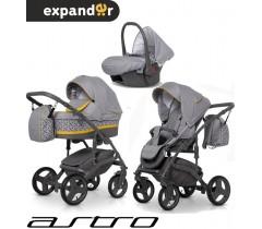 EXPANDER - Carrinho multifuncional ASTRO + CARLO ISOFIX READY Yellow
