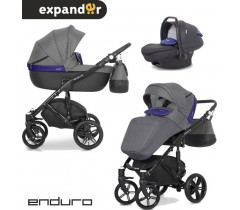 EXPANDER - Carrinho multifuncional ENDURO + KITE ISOFIX READY Denim