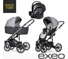 EXPANDER - Carrinho multifuncional EXEO + KITE ISOFIX READY Carbon