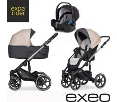 EXPANDER - Carrinho multifuncional EXEO + KITE ISOFIX READY Mocca