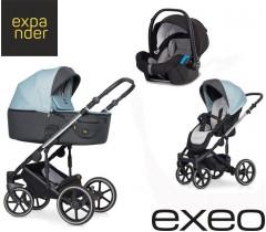 EXPANDER - Carrinho multifuncional EXEO + KITE ISOFIX READY Ocean