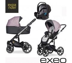 EXPANDER - Carrinho multifuncional EXEO + KITE ISOFIX READY Purple