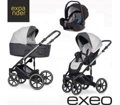 EXPANDER - Carrinho multifuncional EXEO + KITE ISOFIX READY Silver