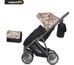 EXPANDER - Carrinho de bebé VIVO Military Beje