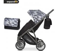 EXPANDER - Carrinho de bebé VIVO Military Grey
