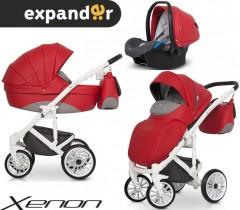 EXPANDER - Carrinho multifuncional XENON + KITE ISOFIX READY Scarlet