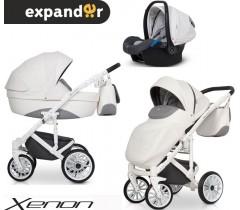 EXPANDER - Carrinho multifuncional XENON + KITE ISOFIX READY White