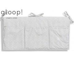 GLOOP - Organizador de Berço 30x60cm Nórdico Cinza