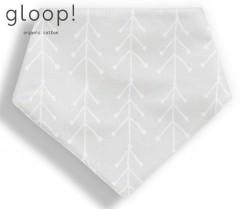 GLOOP - Babete 40x17cm Triangulo Nórdico Cinza