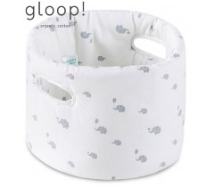 GLOOP - Cesta de Tecido Bebé Elefantes